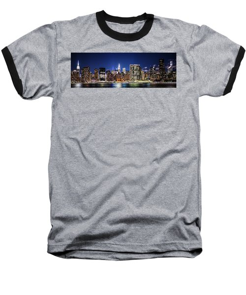 Baseball T-Shirt featuring the photograph Nyc Nightshine by Theodore Jones
