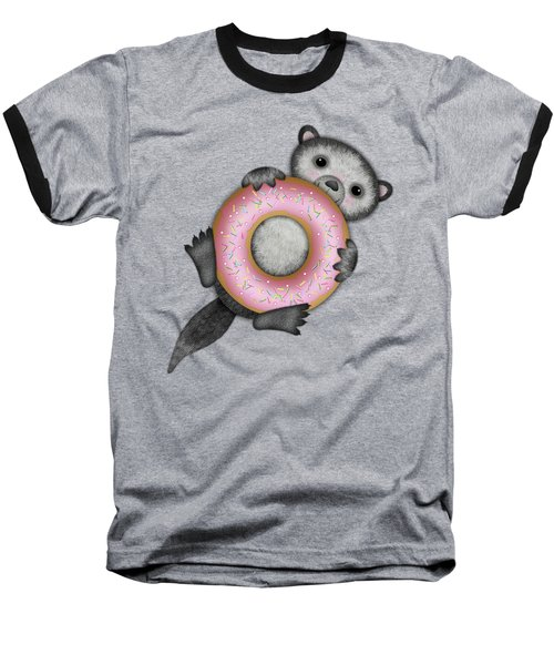O Is For Otter With An O So Delicious Doughnut Baseball T-Shirt
