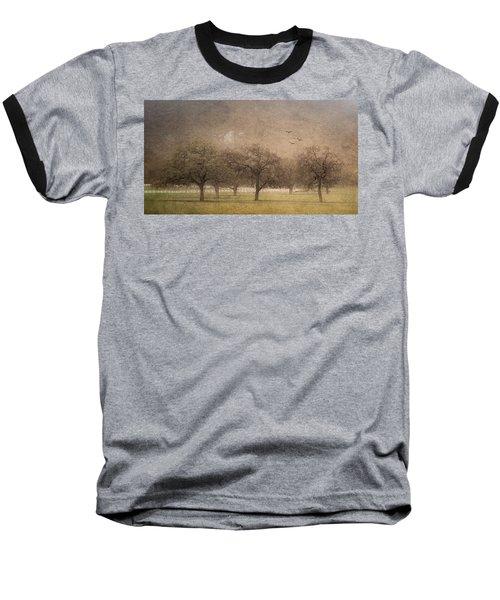 Oak Trees In Fog Baseball T-Shirt