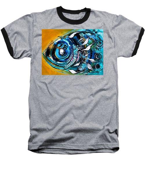 Ochre Fish Four Baseball T-Shirt