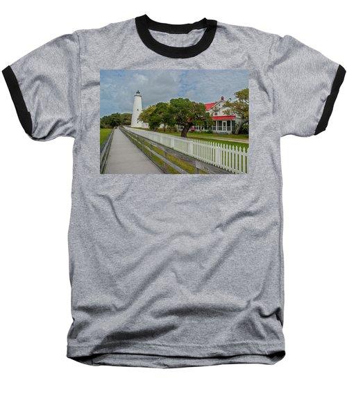 Ocracoke Lighthouse  Baseball T-Shirt