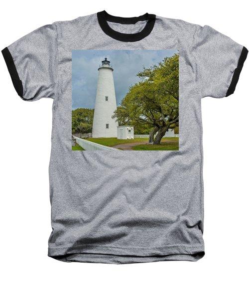 Ocracoke Lighthouse No 2 Baseball T-Shirt