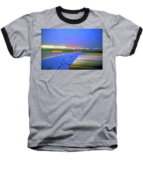 O'hare Night Takeoff Baseball T-Shirt
