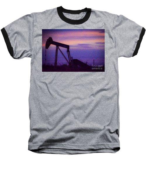 Oil Sunset Baseball T-Shirt