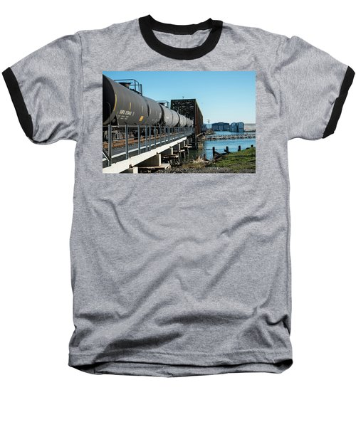 Oil Train Over Swinomish Channel Baseball T-Shirt