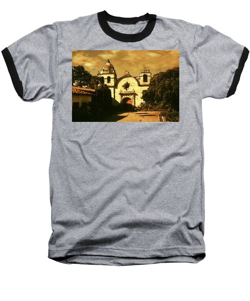 Old Carmel Mission - Watercolor Painting Baseball T-Shirt