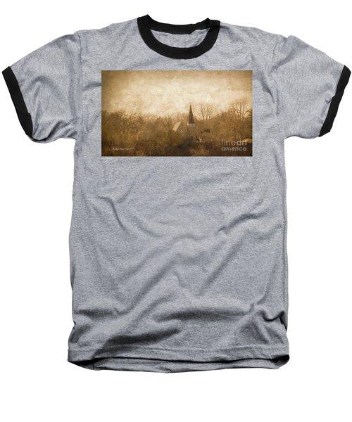 Old Church On A Hill  Baseball T-Shirt