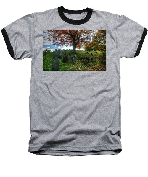 Old Hill Burying Ground In Autumn Baseball T-Shirt