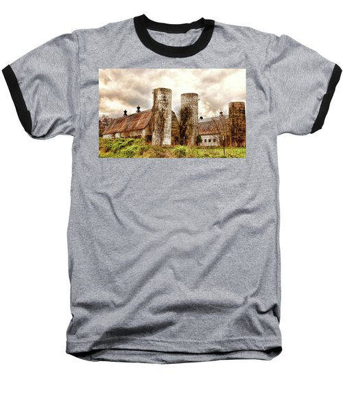 Old Rustic Barn In Cumberland Virginia Baseball T-Shirt