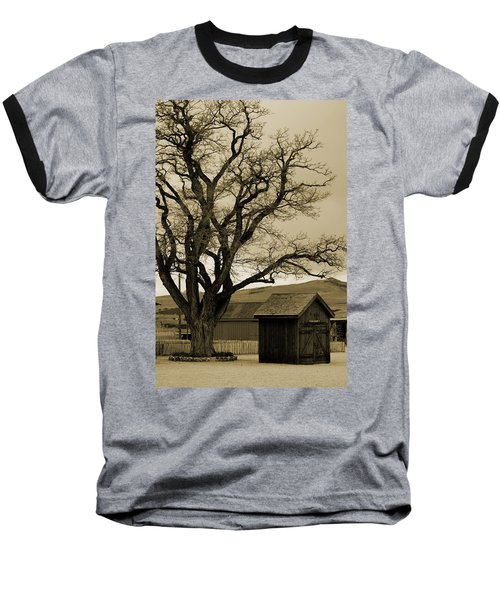 Old Shanty In Sepia Baseball T-Shirt