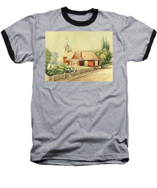 Old Swedes' Church, Southwark, Philadelphia Baseball T-Shirt
