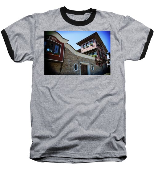 Baseball T-Shirt featuring the photograph Old Town Plovdiv by Milena Ilieva