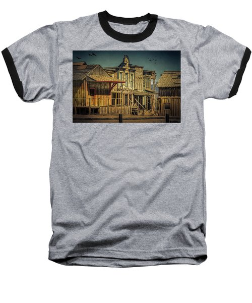 Old Western Town Baseball T-Shirt