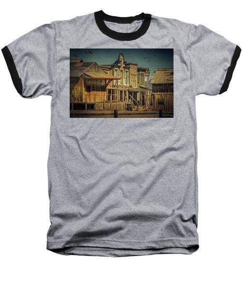 Old Western Town Baseball T-Shirt