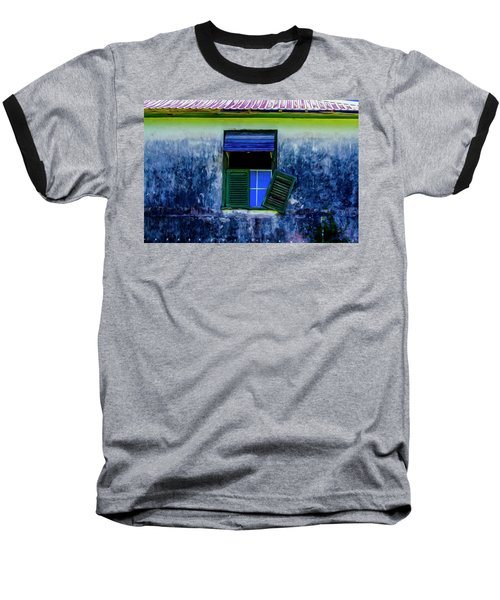 Old Window 3 Baseball T-Shirt