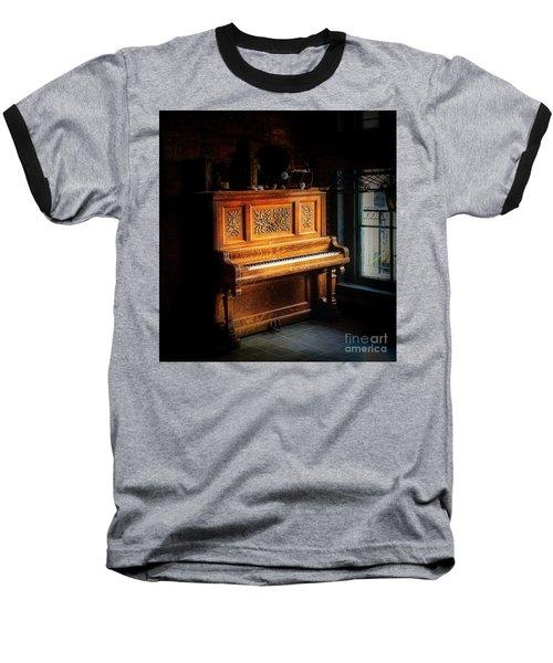Old Wooden Piano Baseball T-Shirt