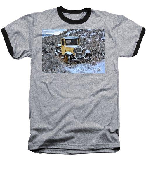 Old Yellow Truck Baseball T-Shirt
