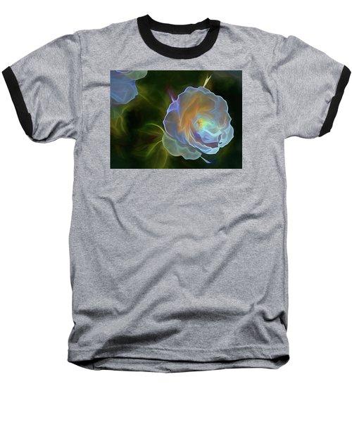 Baseball T-Shirt featuring the mixed media Open To Light 11 by Lynda Lehmann