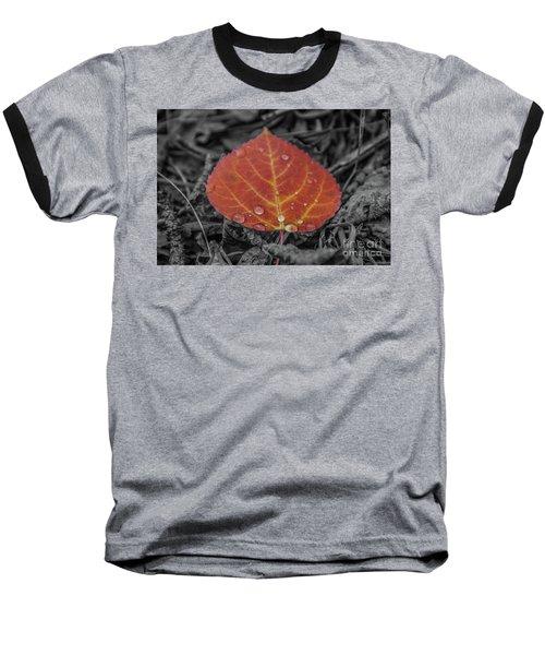 Orange Aspen Leaf Baseball T-Shirt