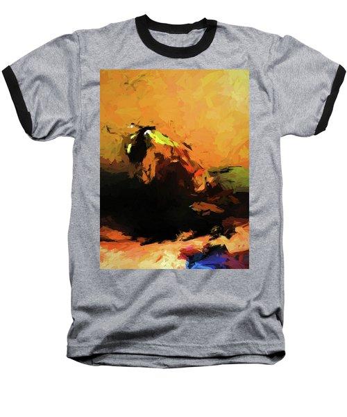 Orange Bull Cat Baseball T-Shirt