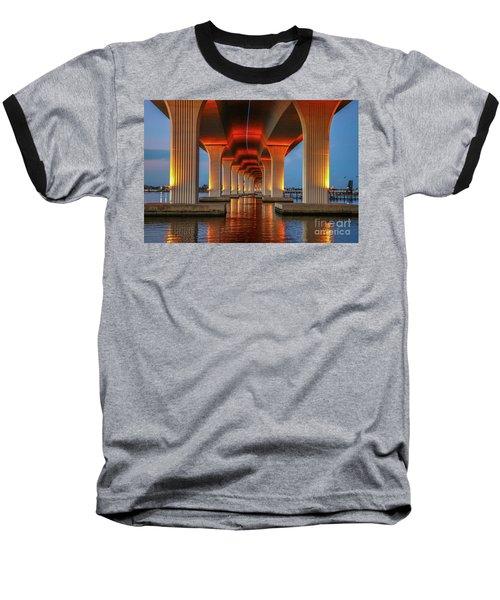 Orange Light Bridge Reflection Baseball T-Shirt