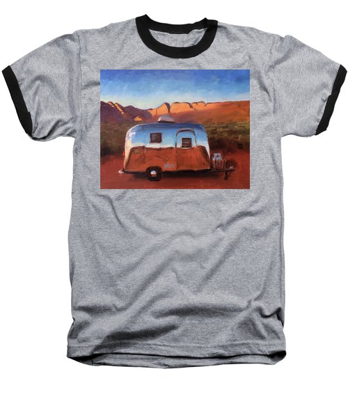 Orange Light On Red Rocks Baseball T-Shirt