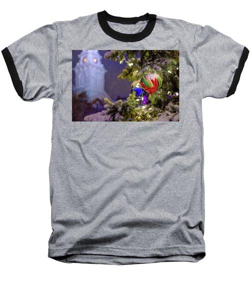 Ornament, Market Square Christmas Tree Baseball T-Shirt