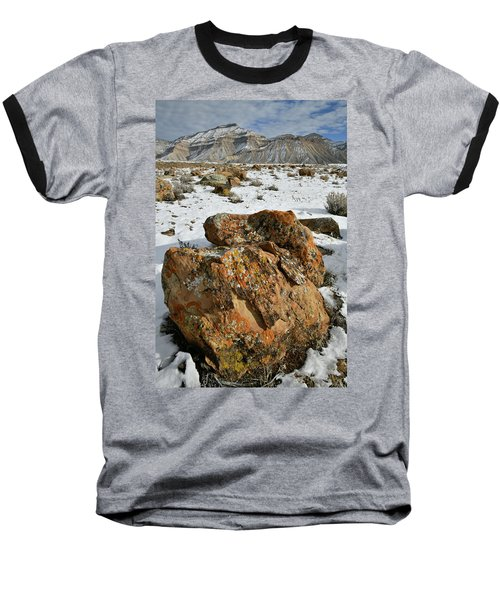 Ornate Colorful Boulders In The Book Cliffs Baseball T-Shirt