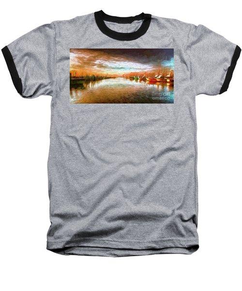 Outer Banks Fishing Boats At Oregon Inlet Ap Baseball T-Shirt