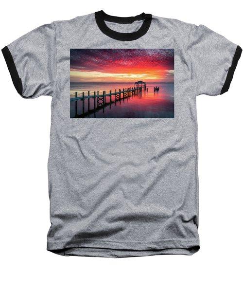Outer Banks North Carolina Sunset Seascape Photography Duck Nc Baseball T-Shirt