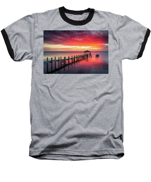 Outer Banks North Carolina Sunset Seascape Photography Duck Nc Baseball T-Shirt