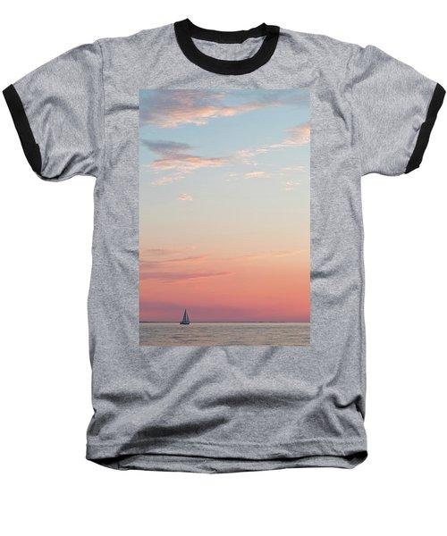 Outer Banks Sailboat Sunset Baseball T-Shirt