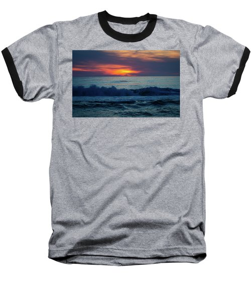 Baseball T-Shirt featuring the photograph Outer Banks Sunrise by Lora J Wilson