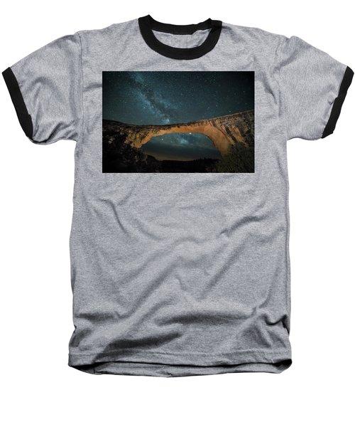Owachomo Natural Bridge And Milky Way Baseball T-Shirt