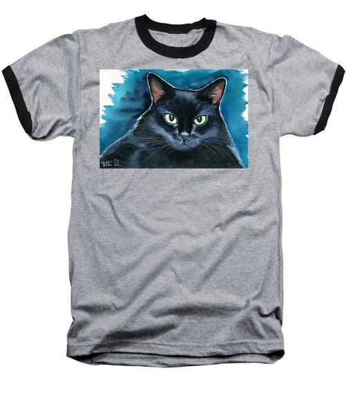 Ozzy Black Cat Painting Baseball T-Shirt