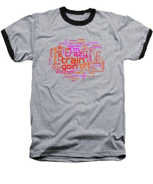 Ozzy Osbourne - Crazy Train Lyrical Cloud Baseball T-Shirt