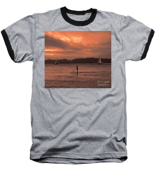 Paddleboarding On The Great Peconic Bay Baseball T-Shirt