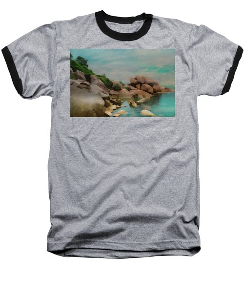 Painted Rocks At Full Tide Baseball T-Shirt