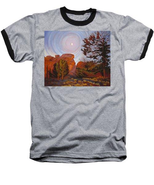Pale Moon Over Vedauwoo Baseball T-Shirt