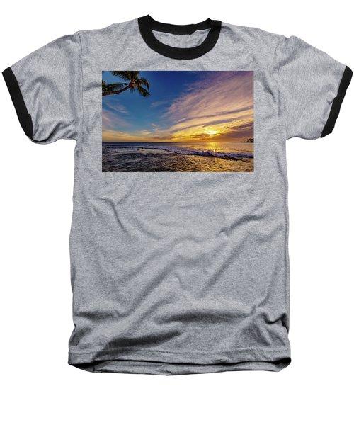 Palm Wave Sunset Baseball T-Shirt