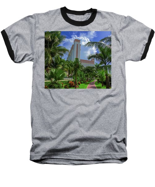Palms At The Riu Cancun Baseball T-Shirt