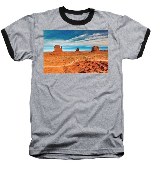 Baseball T-Shirt featuring the photograph Panoramic Monument Valley by Andy Crawford