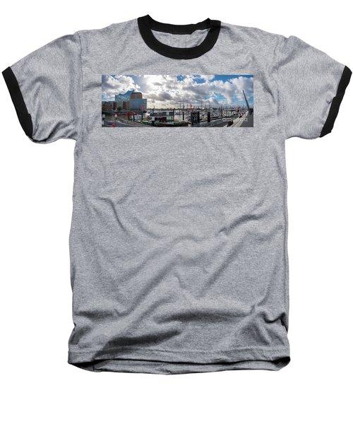 Panoramic View Of Hamburg Baseball T-Shirt