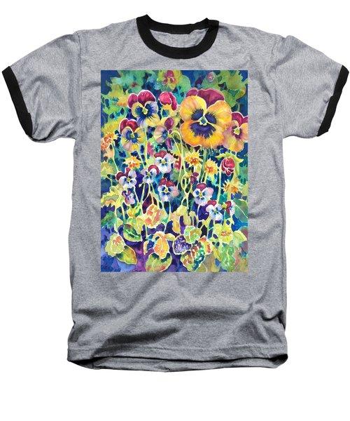 Pansies And Violas Baseball T-Shirt
