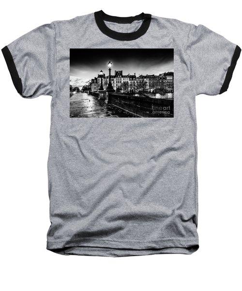 Paris At Night - Pont Neuf Baseball T-Shirt