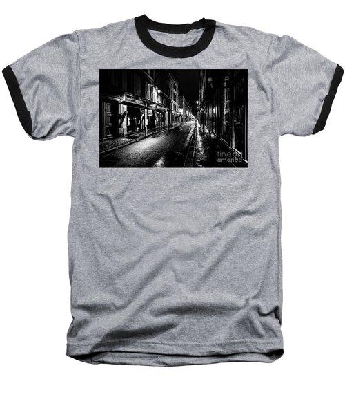 Paris At Night - Rue De Vernueuil Baseball T-Shirt