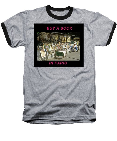 Paris Bookseller Baseball T-Shirt