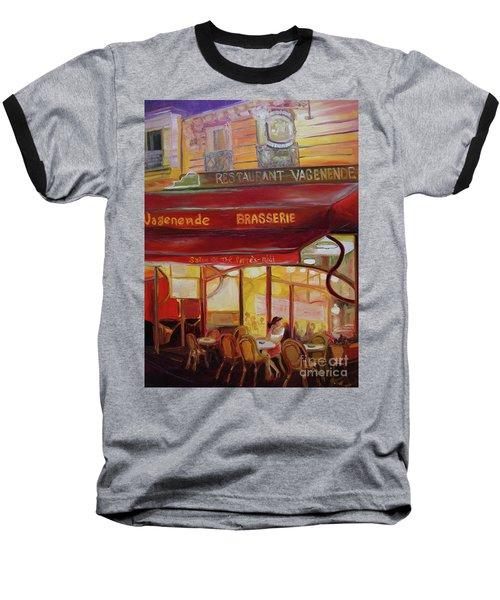 Paris Night Baseball T-Shirt