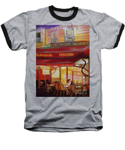 Paris Night Baseball T-Shirt
