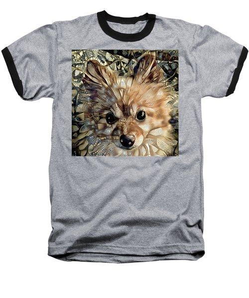 Paris The Pomeranian Dog Baseball T-Shirt